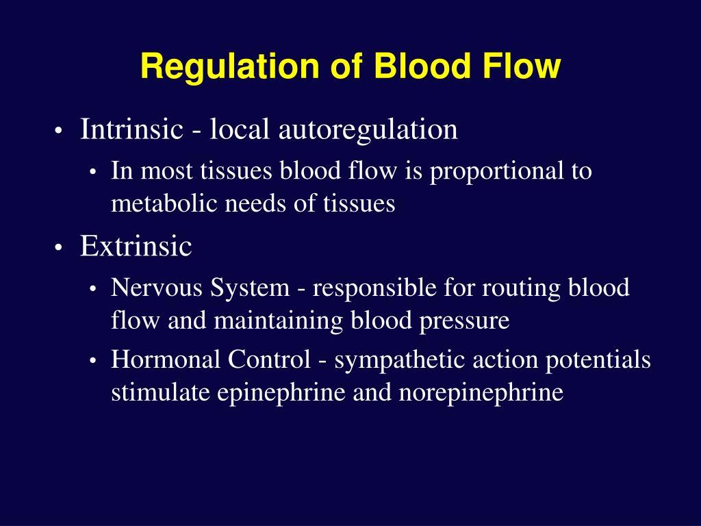Regulation of Blood Flow