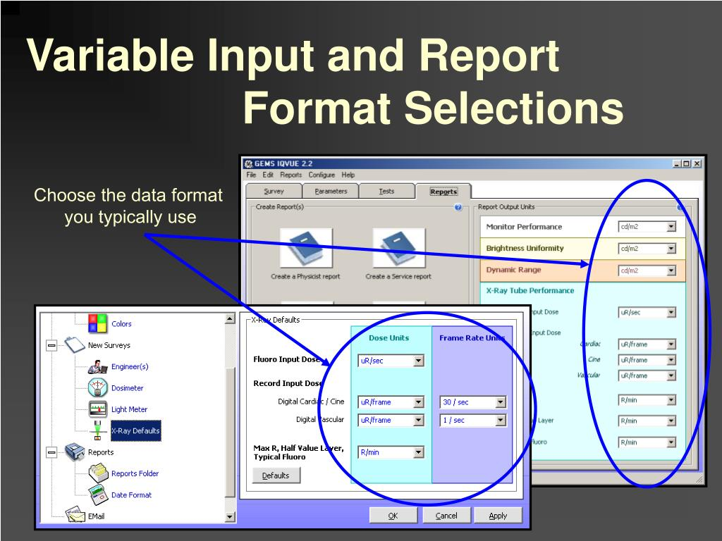 Variable Input and Report