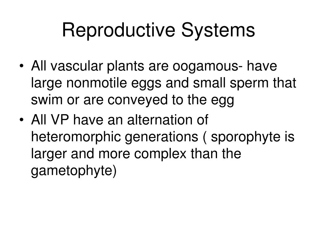Reproductive Systems