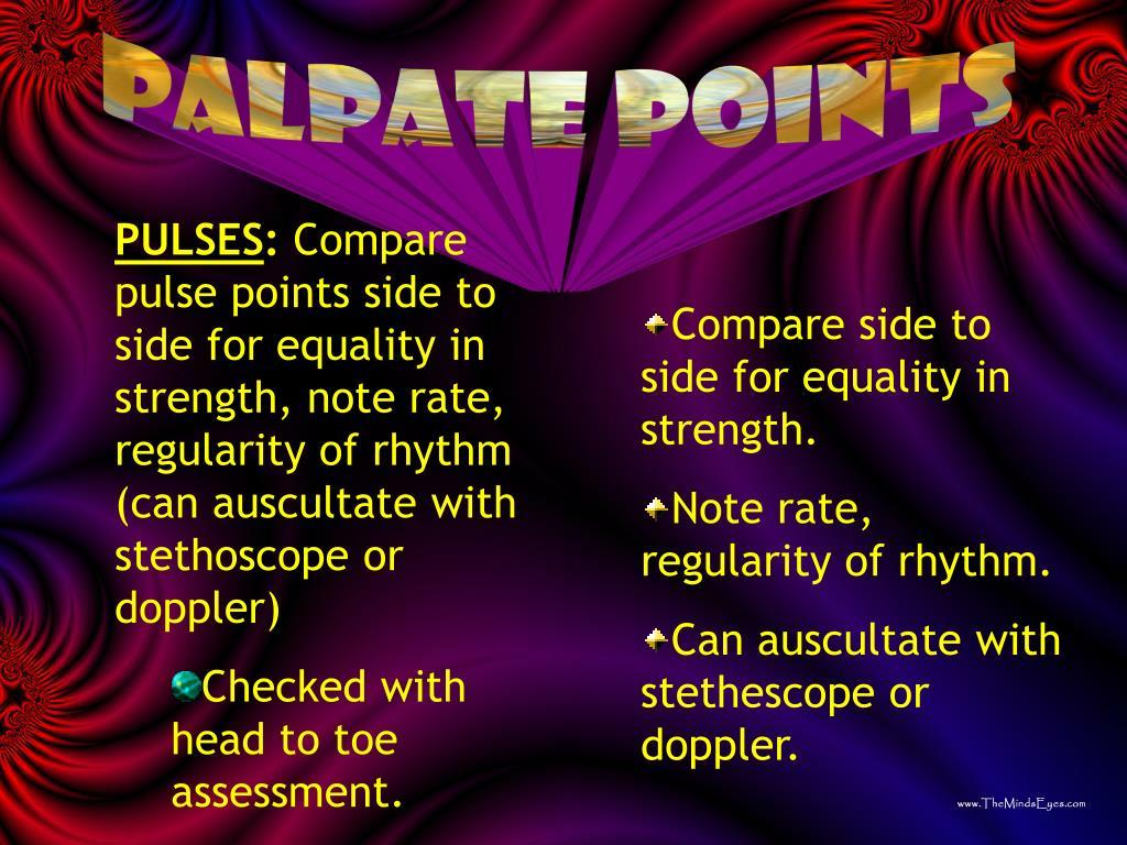 palpate points
