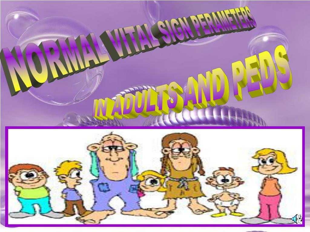 NORMAL VITAL SIGN PERAMETERS