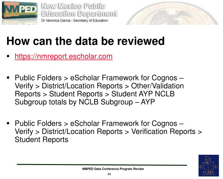 How can the data be reviewed