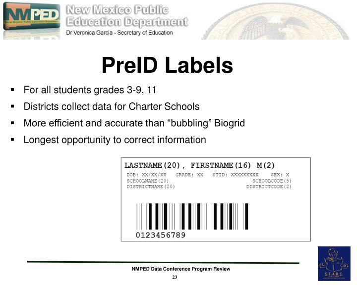 PreID Labels