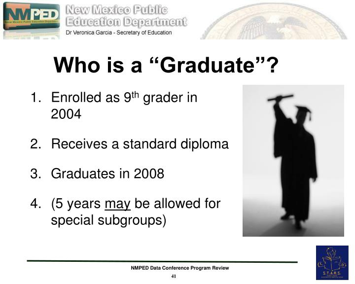 """Who is a """"Graduate""""?"""