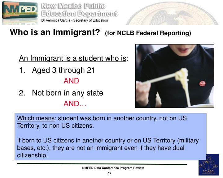Who is an Immigrant?