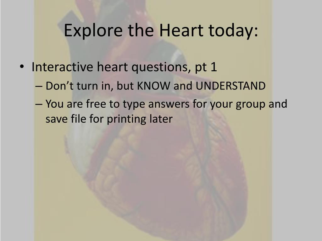 Explore the Heart today: