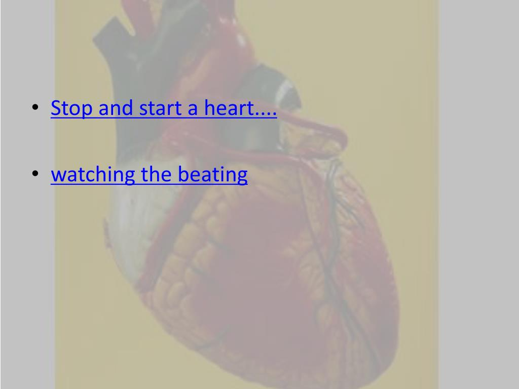 Stop and start a heart....