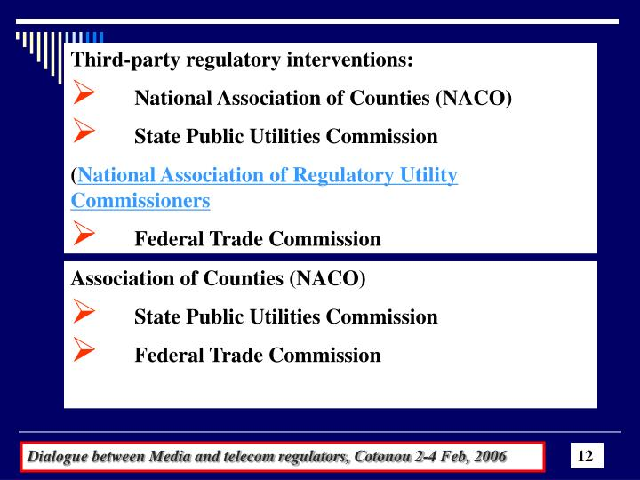 Third-party regulatory interventions: