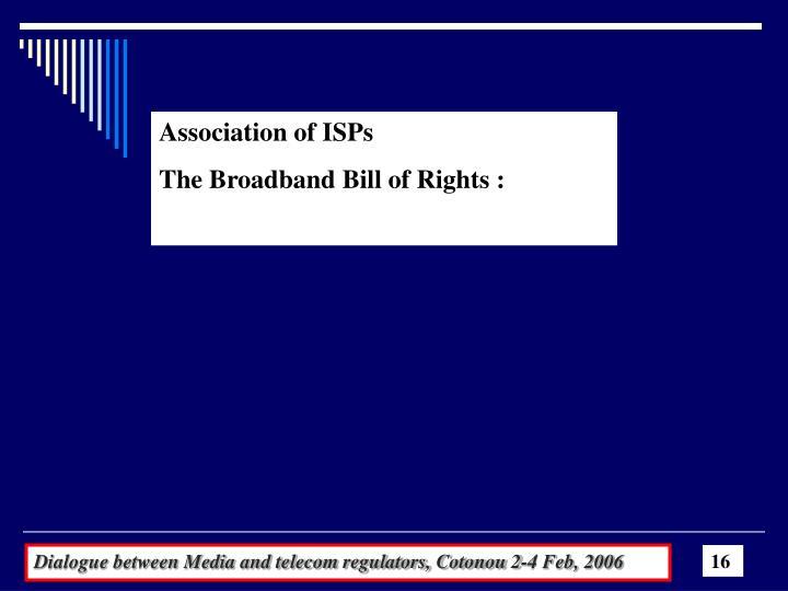Association of ISPs