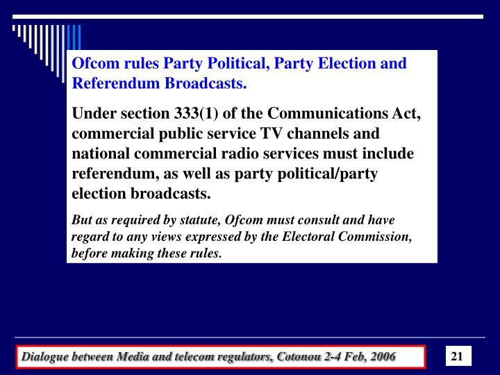 Ofcom rules