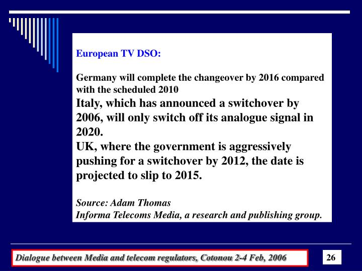 European TV DSO:
