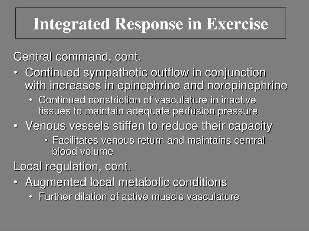 Integrated Response in Exercise