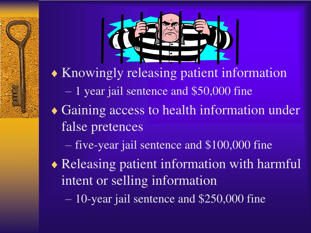 Knowingly releasing patient information