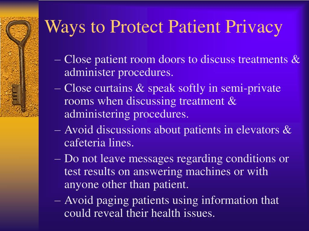 Ways to Protect Patient Privacy