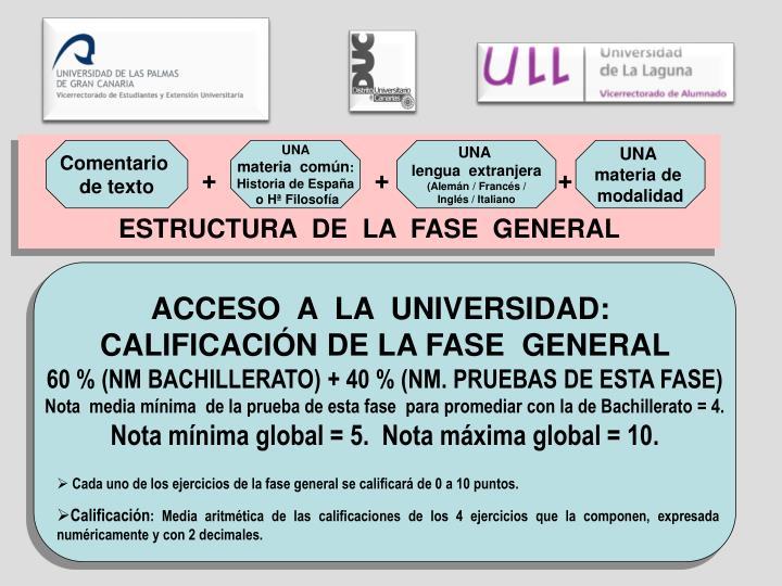 ESTRUCTURA  DE  LA  FASE  GENERAL