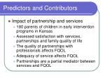 predictors and contributors15