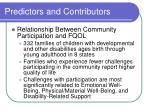 predictors and contributors16