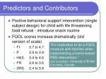 predictors and contributors17