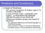 predictors and contributors19