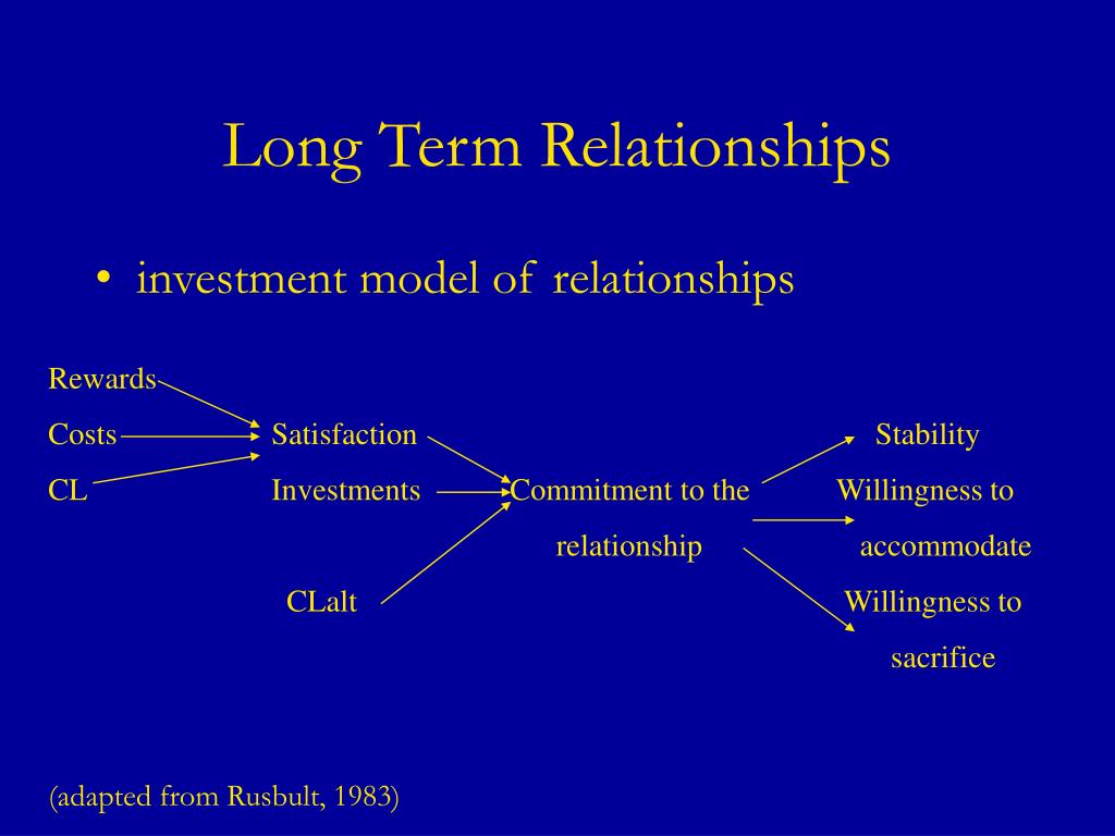 Long Term Relationships