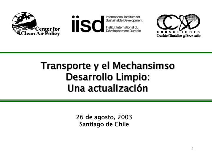 Transporte y el Mechansimso