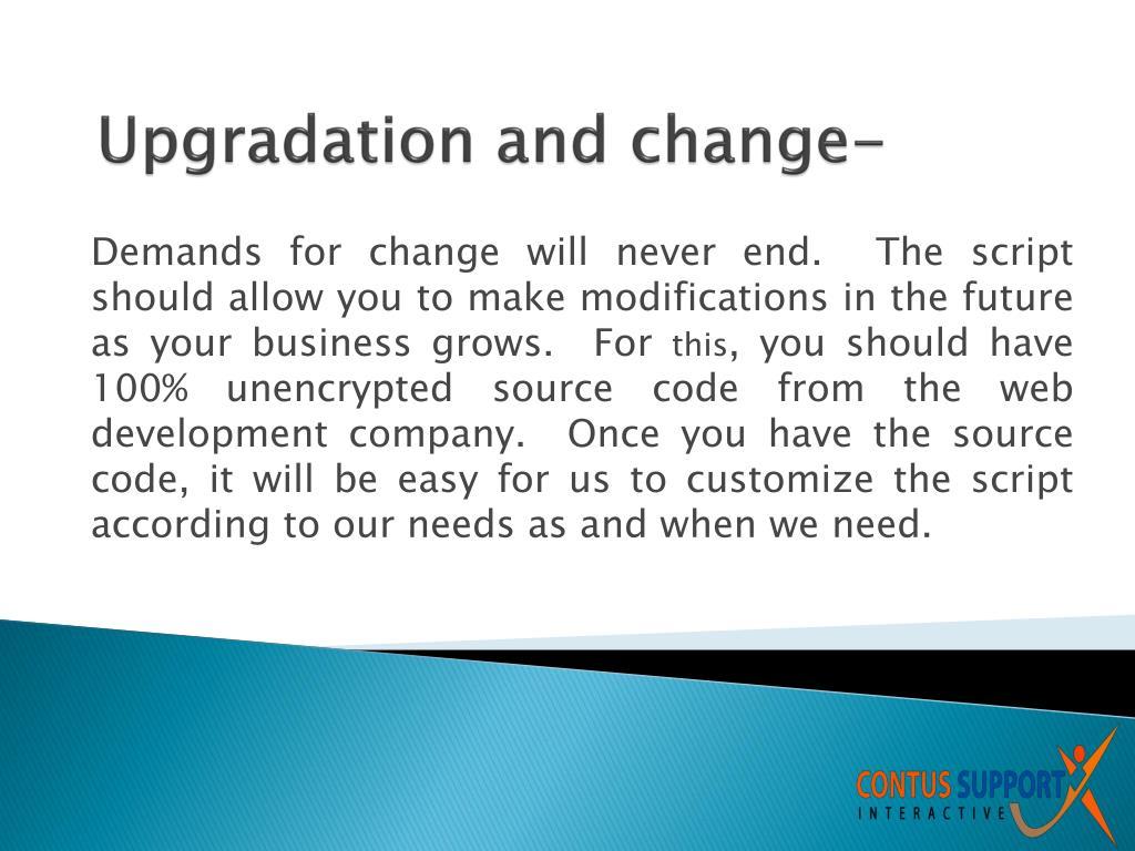 Upgradation