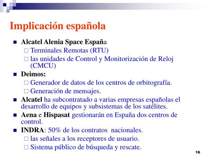 Implicación española