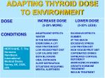 adapting thyroid dose to environment