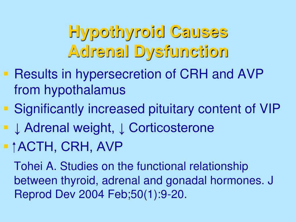 Hypothyroid Causes