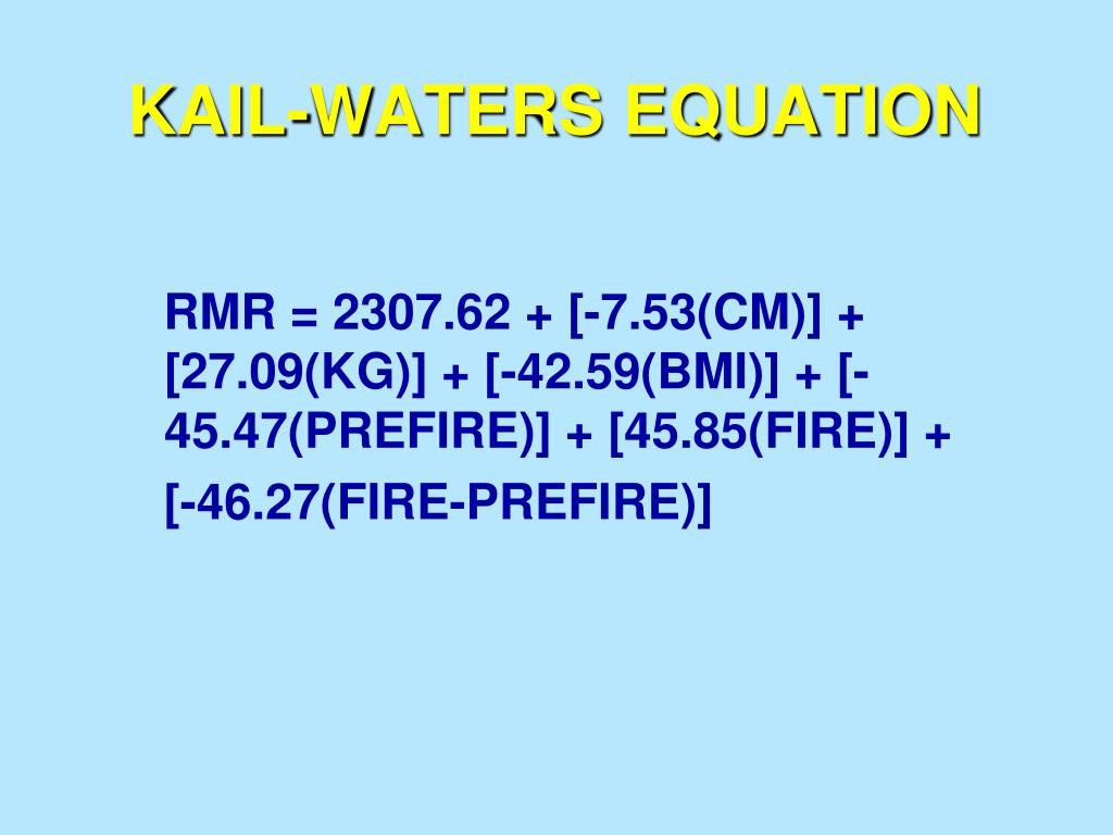 KAIL-WATERS EQUATION