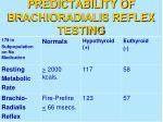 predictability of brachioradialis reflex testing