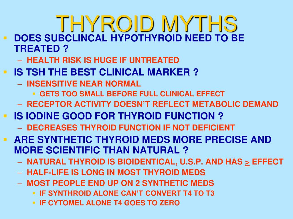 THYROID MYTHS