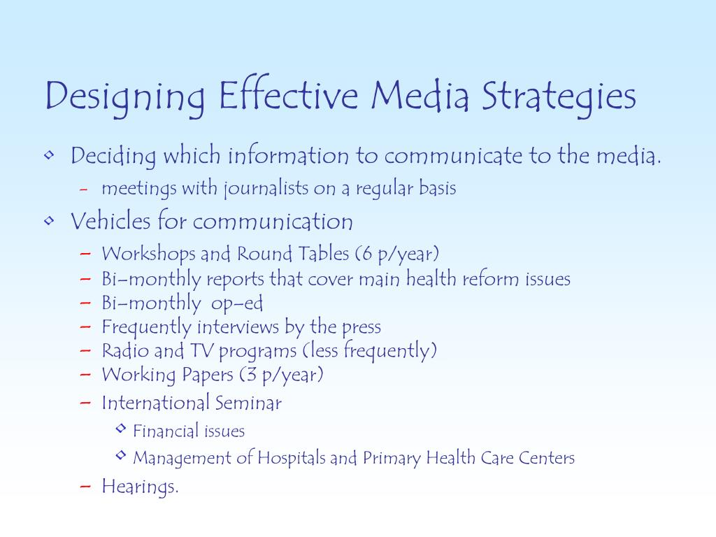 Designing Effective Media Strategies