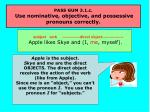 pass gum 3 1 c use nominative objective and possessive pronouns correctly18