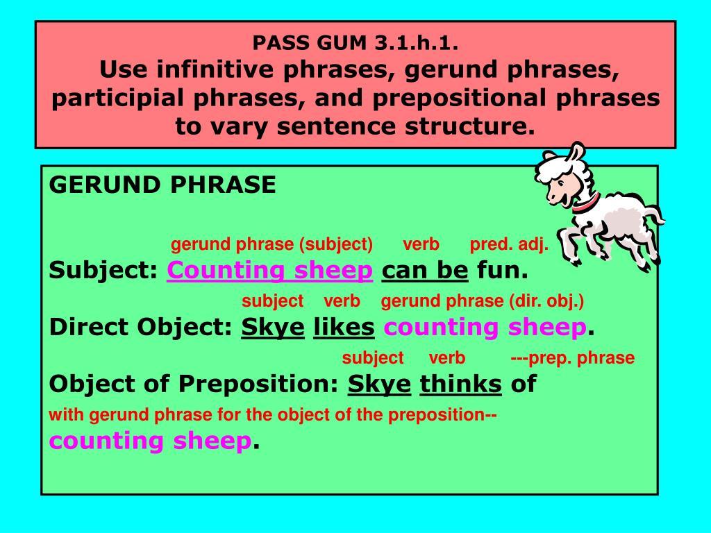PASS GUM 3.1.h.1.