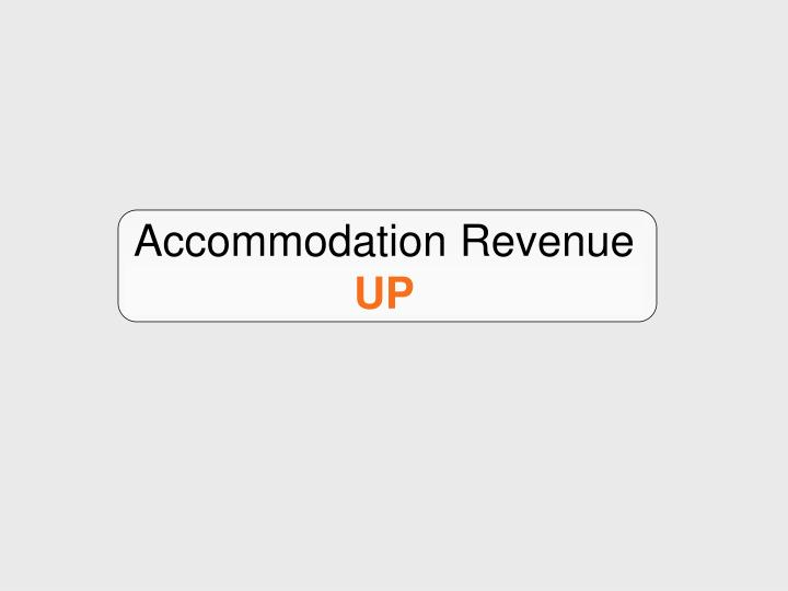 Accommodation revenue up