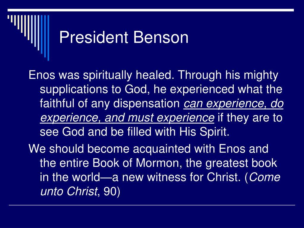 President Benson