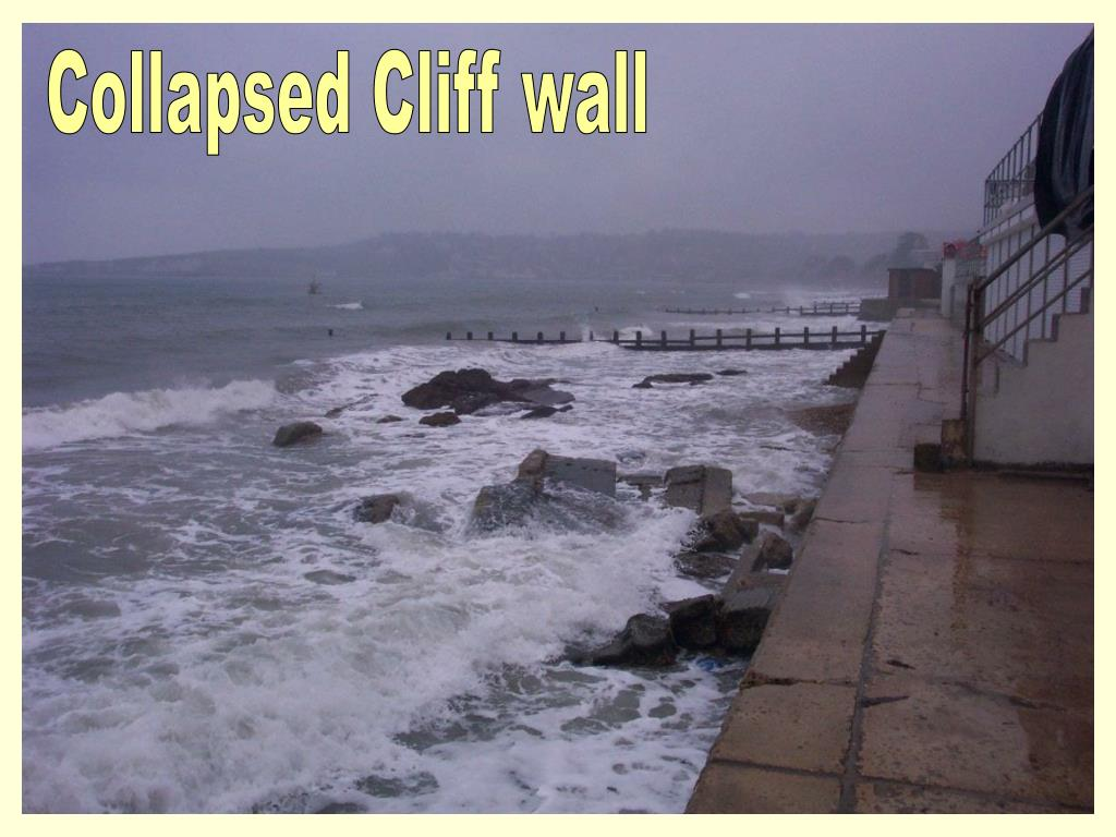 Collapsed Cliff wall