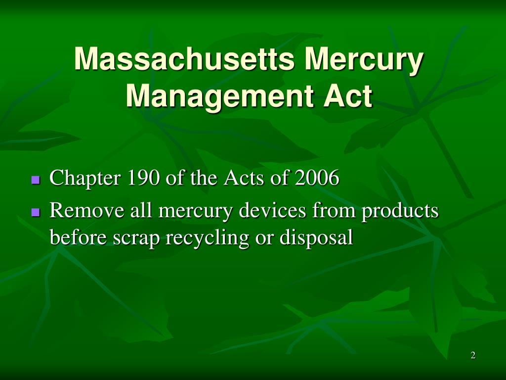 Massachusetts Mercury Management Act