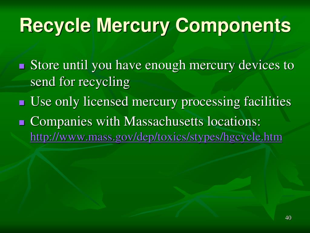 Recycle Mercury Components