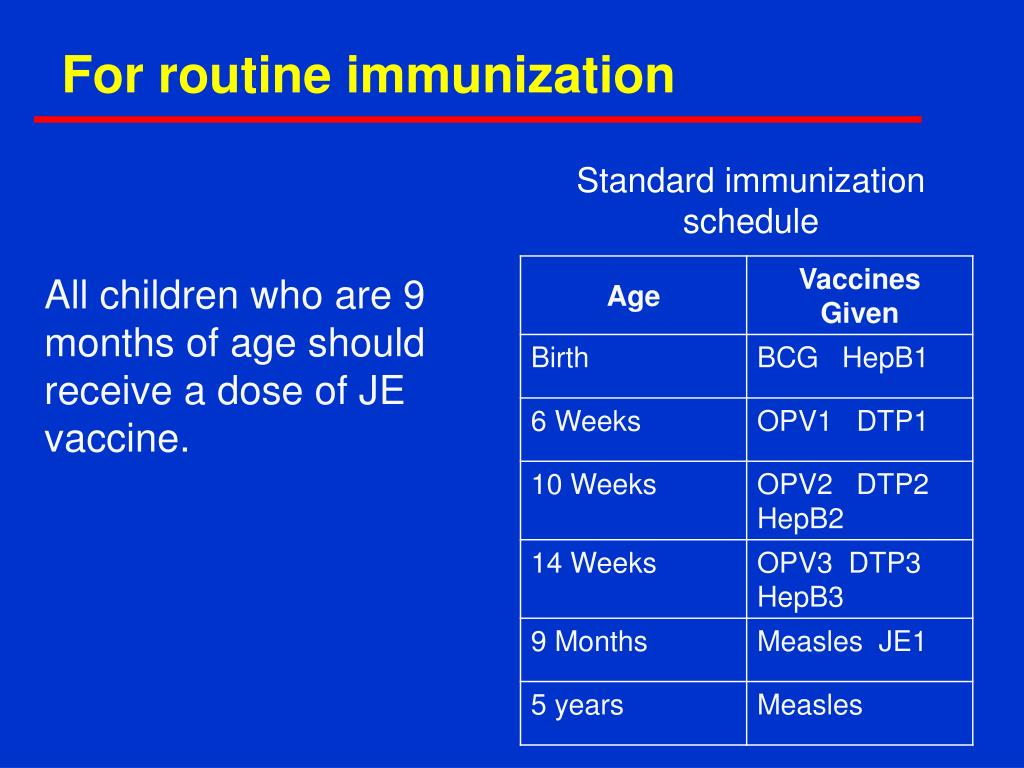 For routine immunization