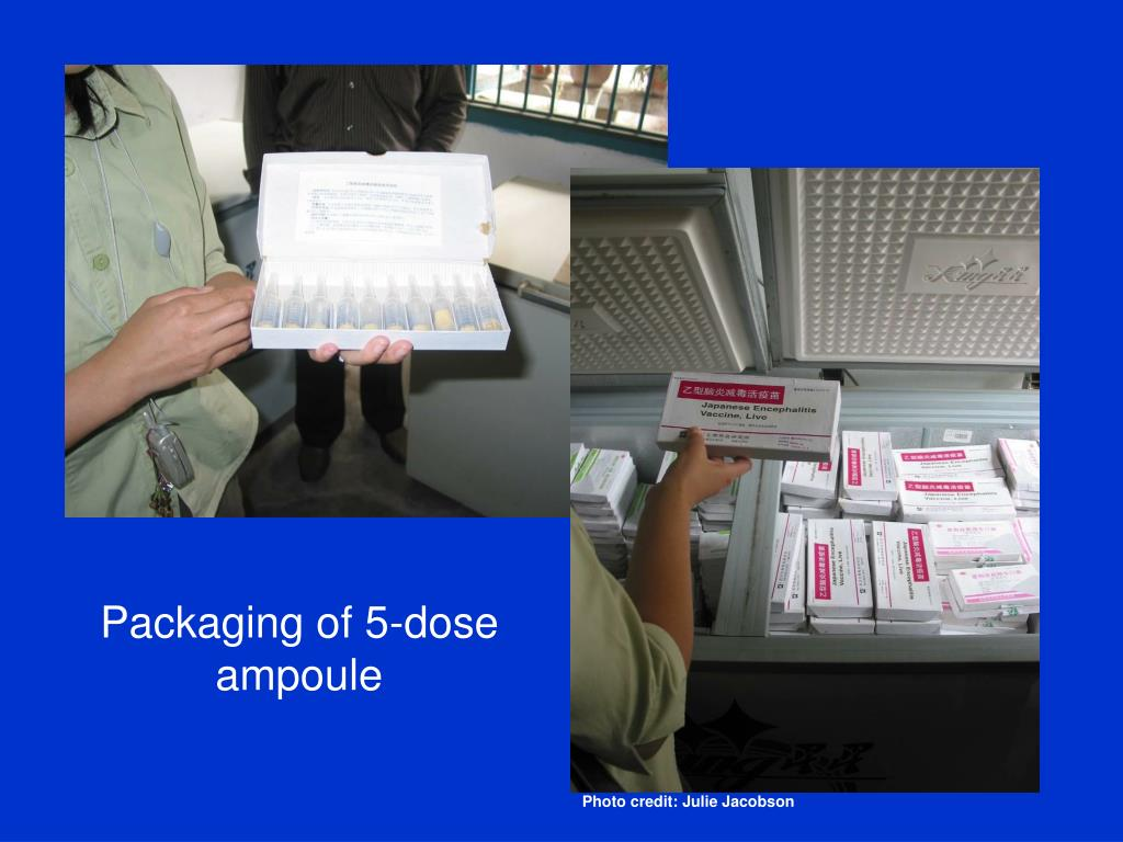 Packaging of 5-dose ampoule