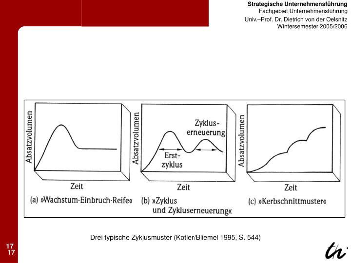 Drei typische Zyklusmuster (Kotler/Bliemel 1995, S. 544)