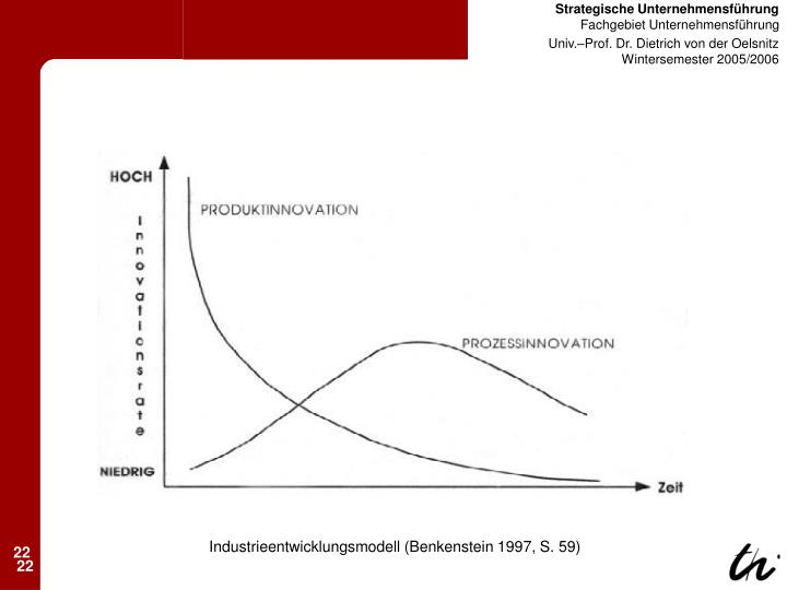 Industrieentwicklungsmodell (Benkenstein 1997, S. 59)