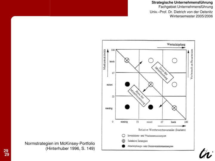 Normstrategien im McKinsey-Portfolio