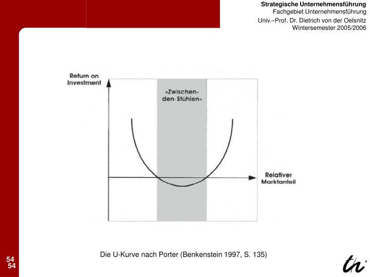 Die U-Kurve nach Porter (Benkenstein 1997, S. 135)