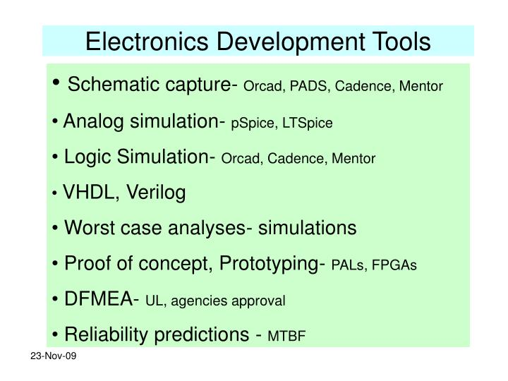 Electronics Development Tools