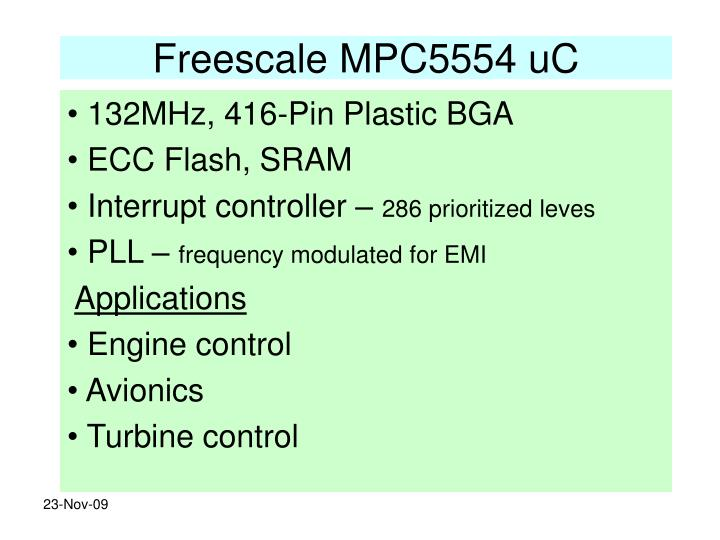 Freescale MPC5554 uC