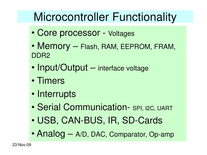 Microcontroller Functionality