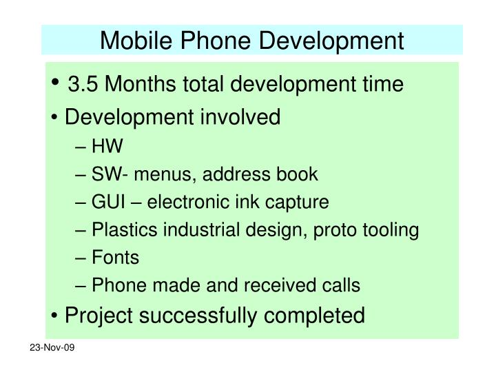 Mobile Phone Development